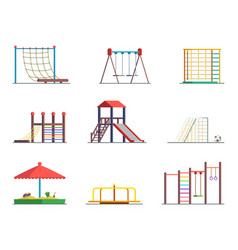 Equipment amusement park playground isolated vector