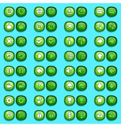 Game menu icons ice buttons set vector