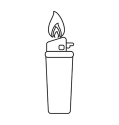 Gas lighter flame icon line vector