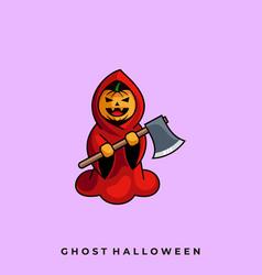 ghost halloween template vector image