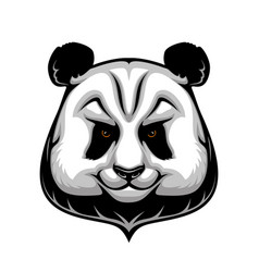 Giant panda bear mascot wild animal head icon vector