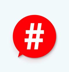 Hashtag icon template design vector