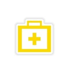 Icon sticker realistic design on paper medicine vector