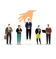 increased business team vector image