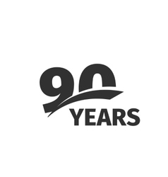 Isolated abstract black 90th anniversary logo vector