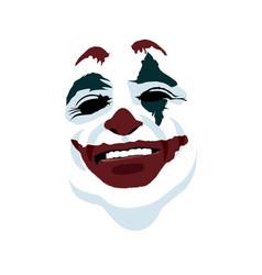 Joker face on white background vector