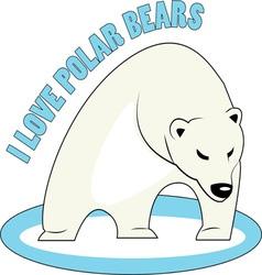 Love Polar Bears vector