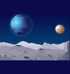 Lunar landscape with vector