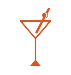 Martini cocktail drink vector