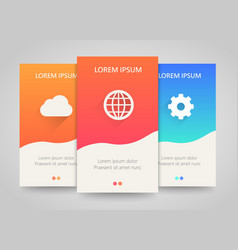 Modern colorful vertical business banners vector