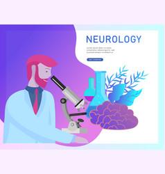 neurology genetics concept flat style little vector image