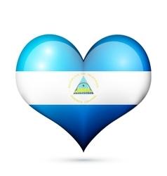 Nicaragua Heart flag icon vector image