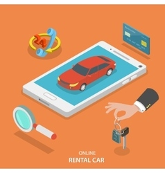 Online rental car service concept vector