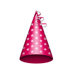 party hat with srats vector image