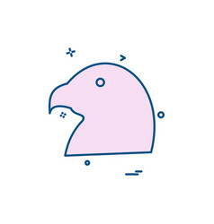 pigeon icon design vector image