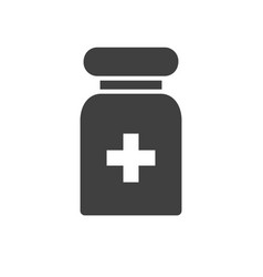pills tube related icon vector image