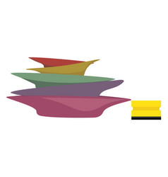 Plates and sponge or color vector