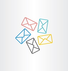 Postal envelopes icon design vector
