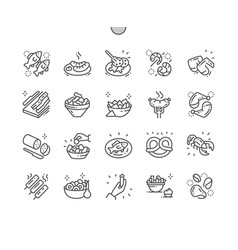 pub food well-crafted pixel perfect thin vector image