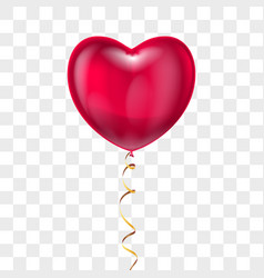 realistic heart shape red balloon with lace vector image