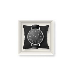 realistic silver classic vintage unisex vector image