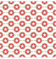 red star pattern in circle vector image