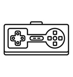 retro game controller icon outline style vector image