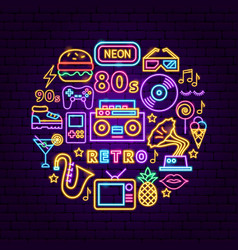 retro neon concept vector image