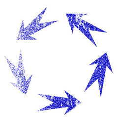 Rotation grunge textured icon vector