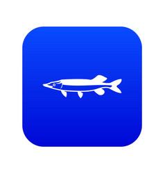 saury icon digital blue vector image