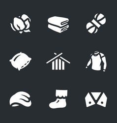 set of cotton icons vector image
