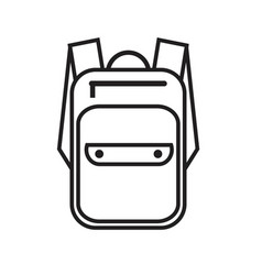 Simple icon with a backpack vector