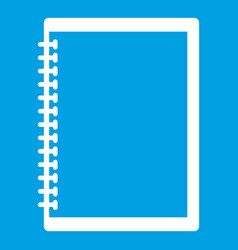 Sketchbook icon white vector