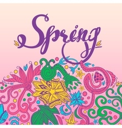 Spring and Round Border vector