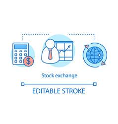 Stock exchange concept icon vector