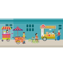 Thailand Street Food vector image