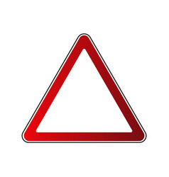 triangle road sign vector image
