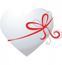 valentines ribbon vector image