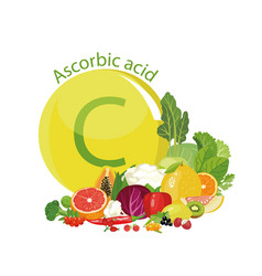 Vitamin c or ascorbic acid vector