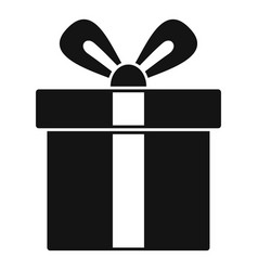 xmas gift box icon simple style vector image