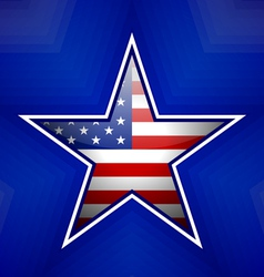 American star badge vector image vector image