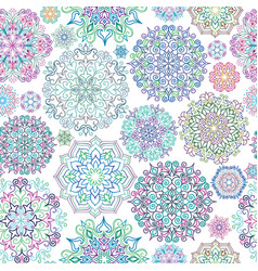 floral ornamental seamless pattern abstract vector image