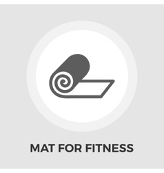 Mat for fitness flat icon vector image vector image