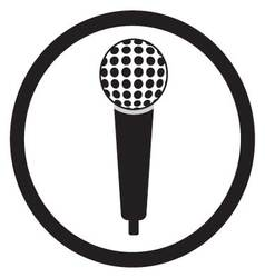 Microphone black sign vector image vector image