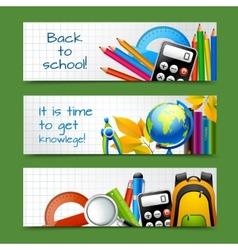 School paper banners vector image
