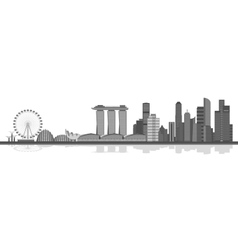 Singapore city skyline vector image vector image