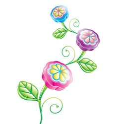 3d funny flower vector image vector image