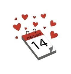 Calendar Valentines Day vector image