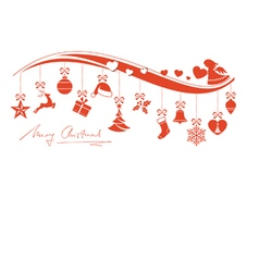 Christmas ornament border with angel vector image vector image