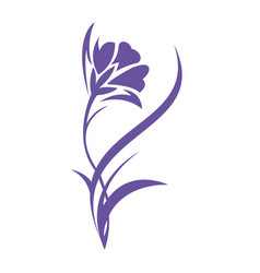iris flower logo design vector image vector image